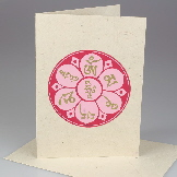 Handmade Om cards from Nepal