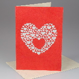 Handmade Valentines cards from Nepal