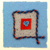 Handmade Valentines cards - Blue Heart