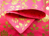 Gold Rose on Pink gift wrap | Wild Paper handmade paper