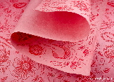 Pink Flowers on Pink wrapping paper | Wild Paper handmade paper