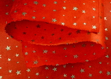 Silver Stars on Red gift wrap paper | Wild Paper handmade paper