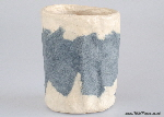 Cylindrical handmade paper vessels